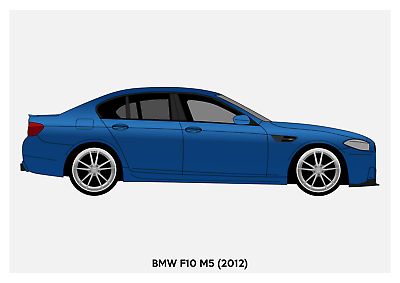 BMW F10 CARS1597 Art Print A4 A3 A2 A1