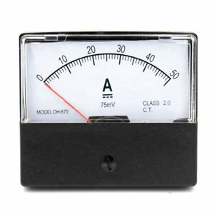 DH-670-Accuracy-DC-50A-Analog-Panel-Meter-Ammeter-Amperemeter-V7J2