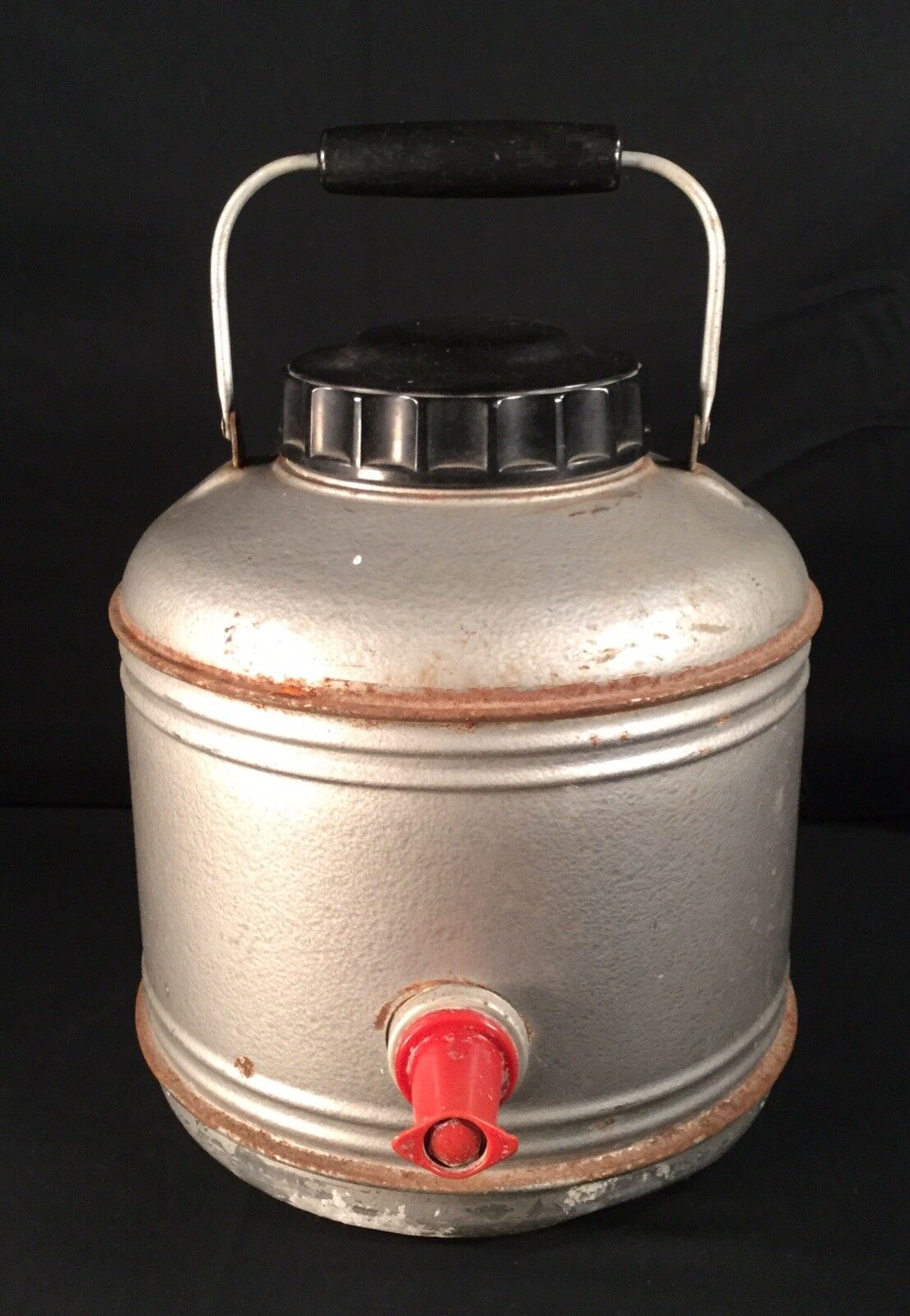 Vtg Metal Water Cooler Jug Spigot Cup Bakelite Handle  Cover  discount promotions