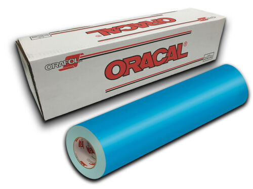 """Turquoise Blue Oracal 651 Craft /& Hobby Cutting Vinyl Roll 12/"""" X 10ft"""