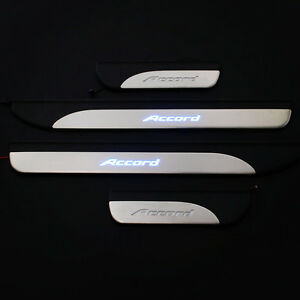4pcs Steel Door Sill Scuff Plate Guard Trim Fit For Honda Accord 2014-2017