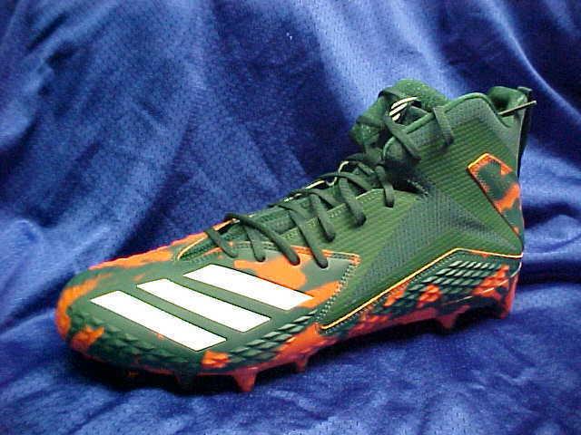 Adidas SM Freak Mid RC Molded Football Cleats Green orange White DB0850 Sz 13.5