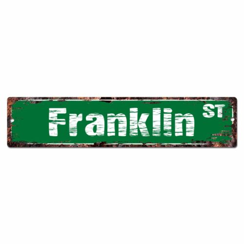 SMNS0216 FRANKLIN Street Chic Sign Home Man Cave Wall Decor Birthday Gift
