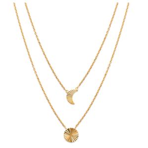 Magnifique-Collier-Collection-Astre-Lune-Plaque-or-18-Carats-750-1000-Bijoux