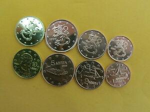 8 Euro cent Münzen aus Finnland und Griechenland - deutschland, Deutschland - 8 Euro cent Münzen aus Finnland und Griechenland - deutschland, Deutschland
