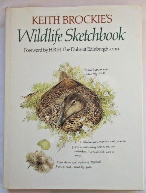 Keith Brockie's Wildlife Sketchbook, 1981 1st HB/DJ - Lovely artwork, drawings