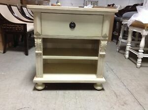 Image Is Loading Pottery Barn Sofia Bed Side Sofa Table Nightstand