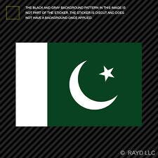 "4"" Pakistani Flag Sticker Decal Self Adhesive Vinyl Pakistan PAK PK"