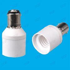 B15 SBC to E14 SES Lamp Light Bulb Socket Light Fitting Extender Adaptor Holder