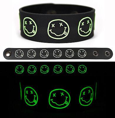 NIRVANA Rubber Bracelet Wristband Glows in the Dark v1