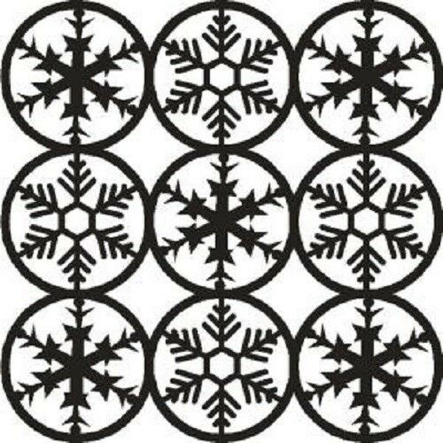 "THAT SPECIAL TOUCH OF Mica Masks SNOWFLAKES Emboss 6/"" x 6/"" STENCIL"