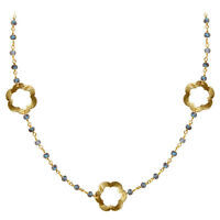 18k Gold Overlay Necklace With Labradorite Chg-199-lb-18