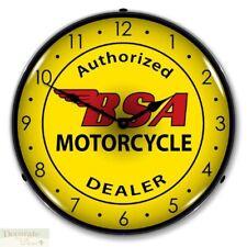 NEW LEGENDS NEVER DIE MOTORCYCLE BIKE RETRO BACKLIT LIGHTED CLOCK FREE SHIP*