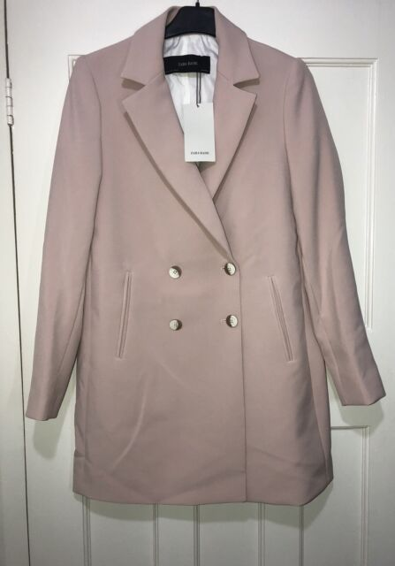 e8b58b5361 Zara Nude Pink Double Breasted Lapel Collar Coat Blazer Size S for ...