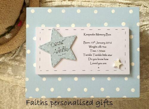 PERSONALISED BABY BOY//GIRL WOOD CHRISTENING//BIRTH//BIRTHDAY KEEPSAKE//MEMORY BOX