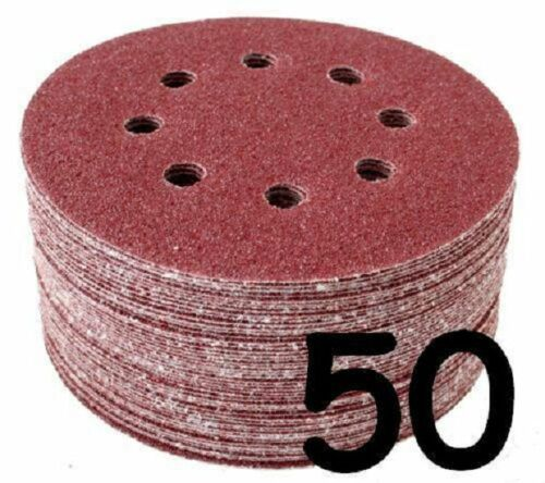 "50 x 115mm 4 1//2/""  Sanding Disc 40 Grit 8 Punched Holes"