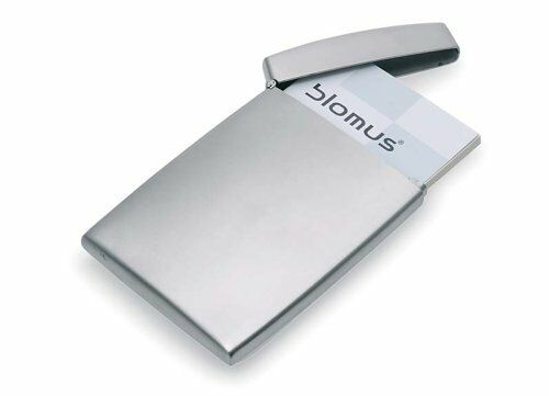 Blomus stainless steel business card holder ebay blomus stainless steel business card holder silver credit card id pocket storage reheart Gallery