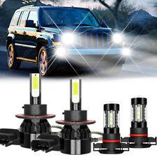 For Jeep Patriot 2010 2017 2pair Led Headlight Highlow Beamfog Light Bulbs Kit Fits 2012 Jeep Patriot