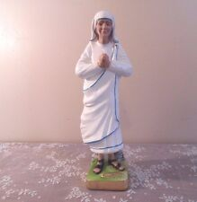 "Antique Mother Theresa Statue Columbia Religious Statuary 12"" Church Altar Saint"