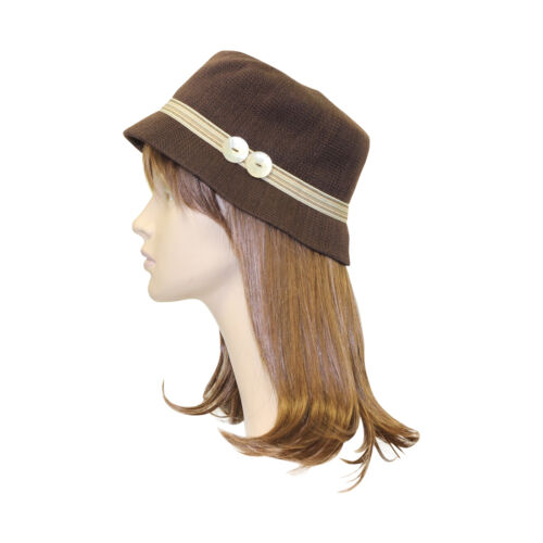 Womens Bucket Hat with Colorful Band Cute Cap Comfortable Stylish Cloche Hat