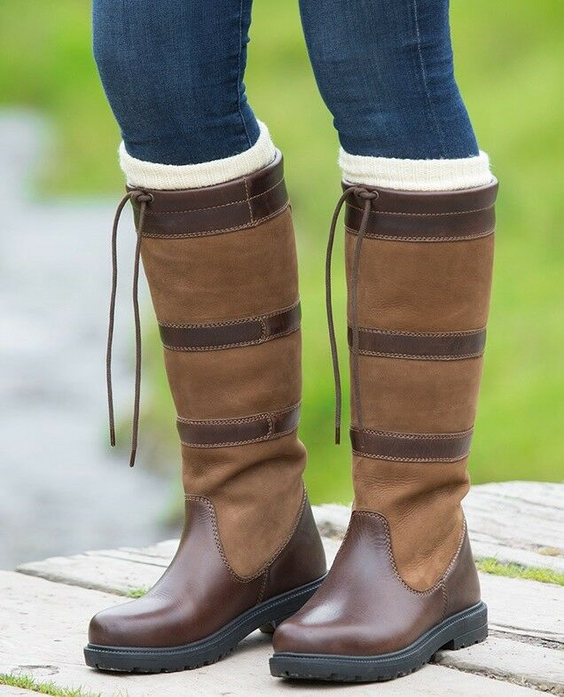 Shires Moretta Teo Long Boots Brown.