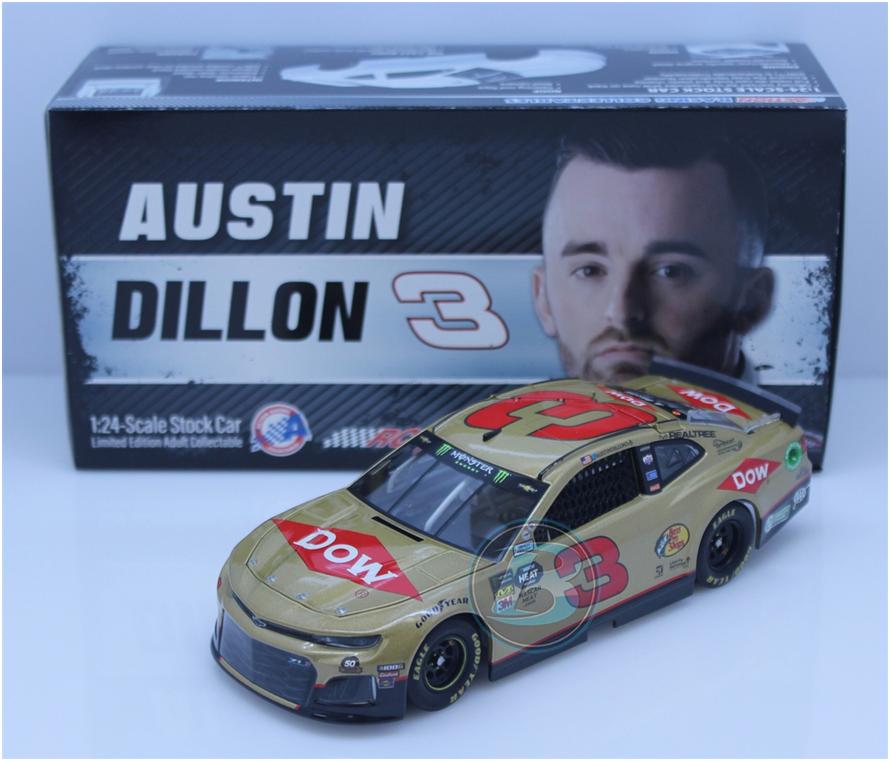 NASCAR 2019 AUSTIN  DILLON  3 DOW RCR 50th ANNIVERSARY 1 24 CAR
