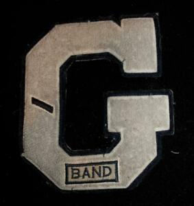 VINTAGE-1960-039-S-1970-039-S-SCHOOL-BAND-LETTER-NAVY-AND-GRAY-PATCH-5-1-2-034-X-6-1-2-034