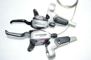 Details about Shimano Deore LX Dual ST-M585 Shifter Brake lever Set Disc  3x9 speed Hydraulic