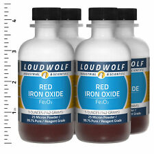 Iron Oxide Red 13 Lb Total 4 Bottles Reagent Grade 25 Micron Powder