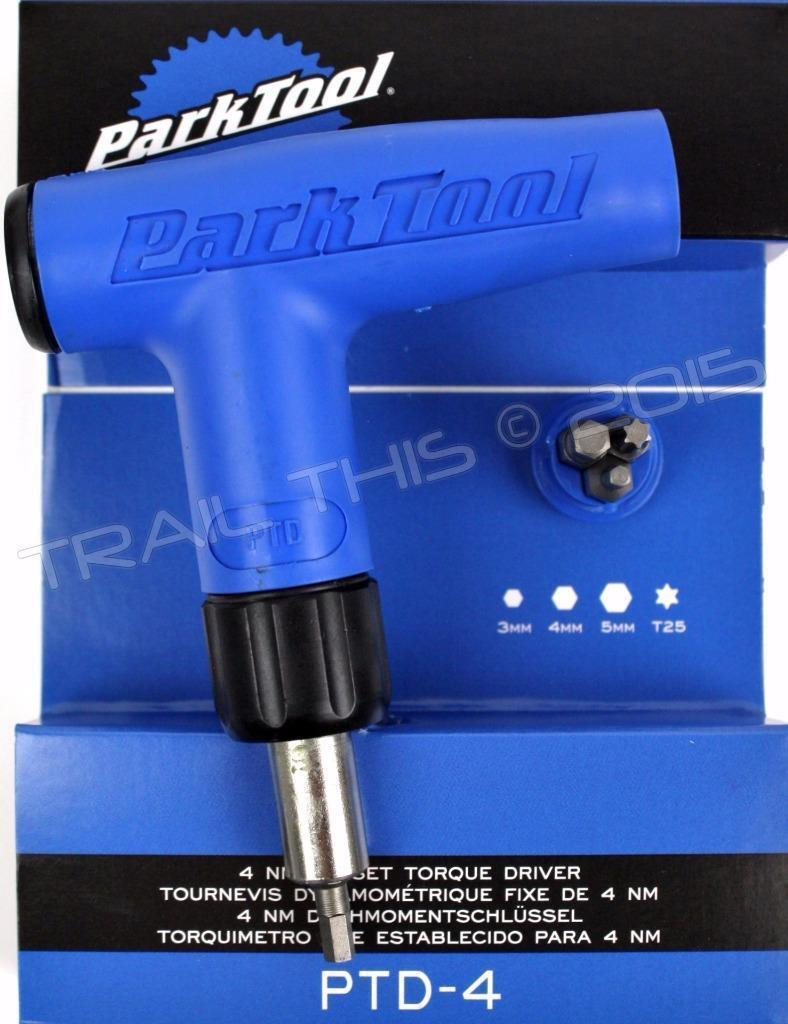 Park Tool PTD-4 4Nm Preset Bike L-Handle Torque Limiting Driver Wrench
