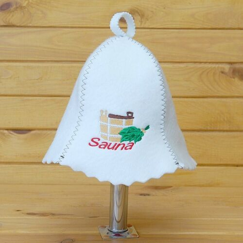 Saunahut sauna gorro gorra de fieltro banja wenik sauna gorra 100/% sombrero de fieltro ha palillos