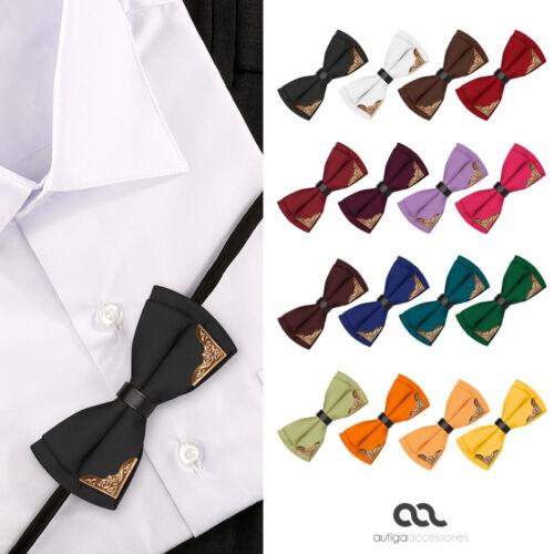 Mosca Uomo angoli in metallo matrimonio vita vestito SMOKING cravatta fiocco