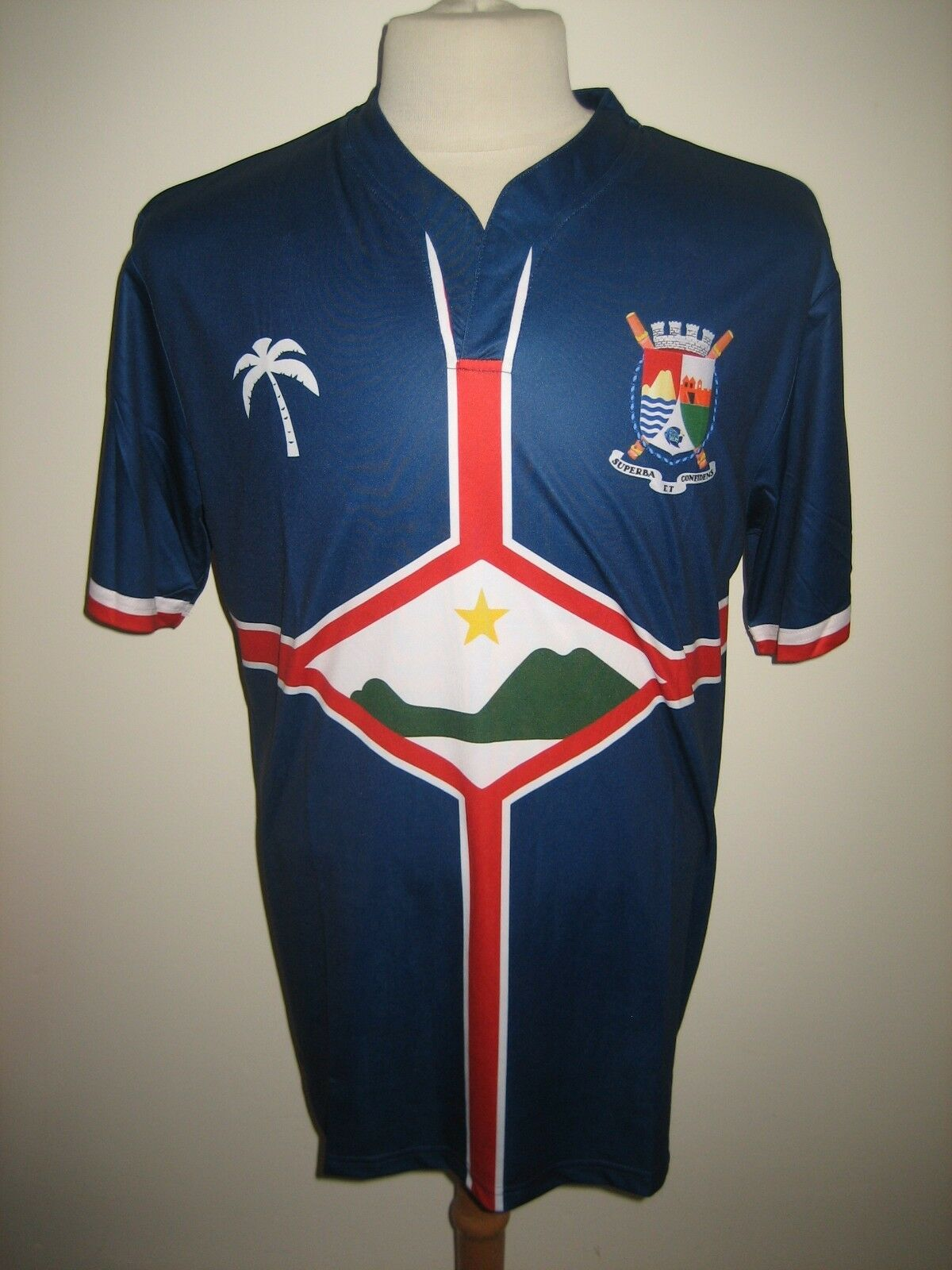 Sint Eustatius home rare football shirt soccer jersey trikot maillot NEW Dimensione L