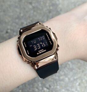 Casio G-Shock *GMS5600PG-1 S Series Digital Rose Gold Steel Black Resin Watch