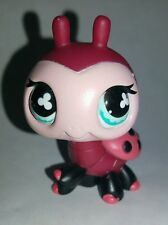 Littlest Pet Shop Red Black Pink Ladybug Blue Clover Eyes Eyes #629 Preowned LPS