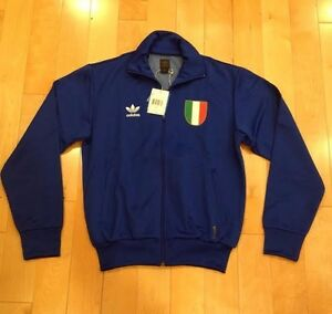 19905cb6098c ADIDAS TRACK JACKET ITALIA ITALY WORLD CUP BLUE RED NEW NWT SIZE ...