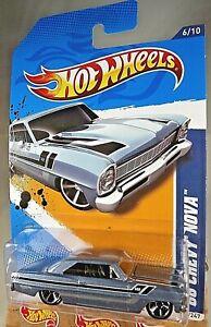 2012-Hot-Wheels-106-Muscle-Mania-GM-6-10-039-66-CHEVY-NOVA-Steel-Blue-Variant-wMC5