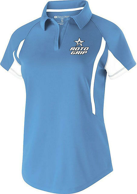 redo Grip Women's Cell Performance Polo Bowling Shirt Dri-Fit University bluee