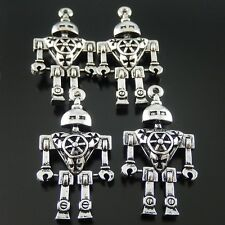 5pcs Antiqued Silver Alloy Robot jewelry Crafts Pendant Charms 51907 46*26*9mm