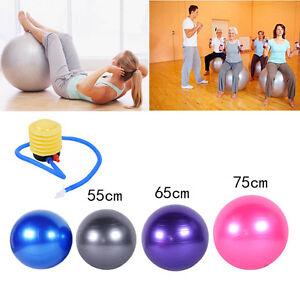 55-65-75cm-Yoga-Gym-Fitness-Ball-Aerobic-Abdominal-Exercise-Pilates-Balance