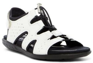 0b4b41a54ce6c Details about ECCO Women's Bluma Toggle Gladiator Sandals WHITE Size 36 /  US 5 - 5.5