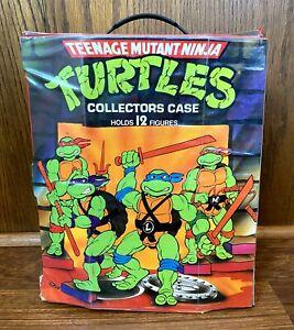 Vintage-TMNT-Ninja-Turtles-Figure-Collectors-Carrying-Case-w-Insert-Tray-1988