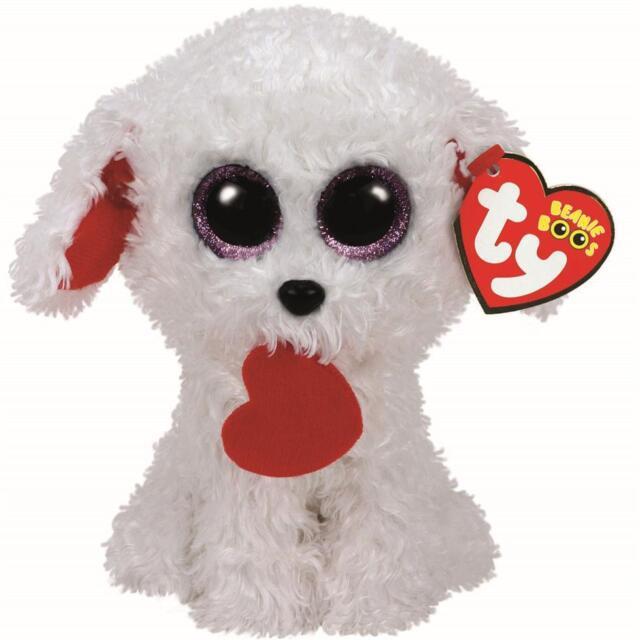 Ty Beanie Boo Honey Bun Dog Valentines 2017 Release With Tags 15 Cms ... dd05bfc5553