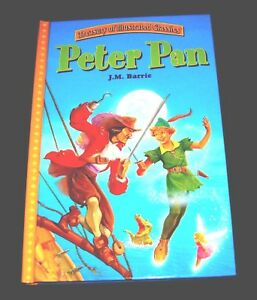 PETER-PAN-HC-2004-LARGE-PRINT-Printed-in-ITALY-Treasury-of-Illustrated-Classics