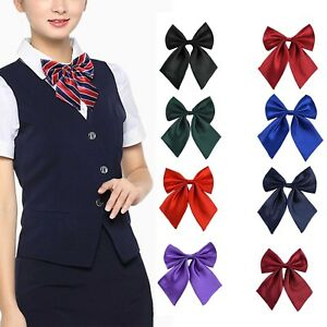 NEW-Women-Student-Bow-Tie-Fashion-Ladies-Girl-collar-Novelty-BIG-Bow-Tie-Wedding