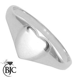 BJC-Sterling-Silver-Childrens-Ladies-Girls-Heart-Signet-Ring-Size-C-W