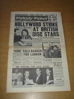 Melody Maker 1960 March 12 Hollywood Strike Marilyn Monroe Frankie Vaughan +