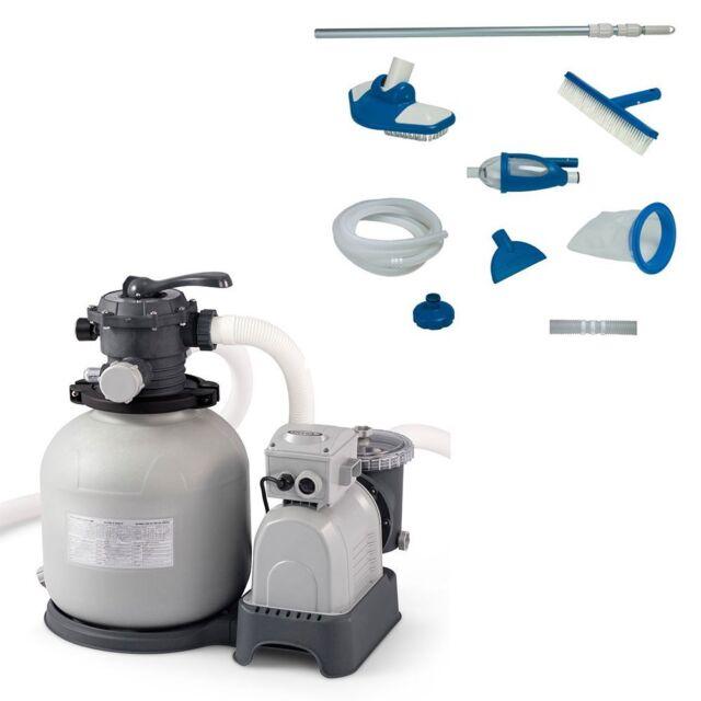 Intex Krystal Clear 3000 Gph Sand Filter Pump Deluxe Pool