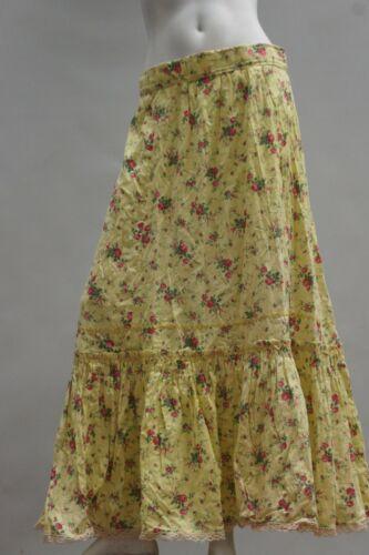 Vintage 30s Floral Print Prairie Maxi Skirt