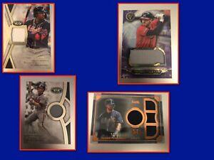 Atlanta Braves 10 Card Lot - Guaranteed Auto Or Relic - Acuna, Freeman & More
